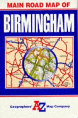 Main Road Map of Birmingham by Geographers' A-Z Map Company | Book | second hand