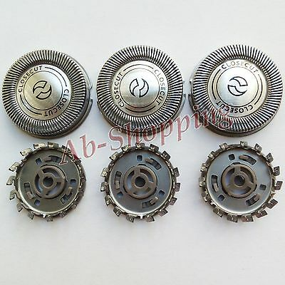 3pcs Replacement Shaver Head for Philips Norelco HQ3/HQ4/HQ5/HQ55/HQ56 HQ6405