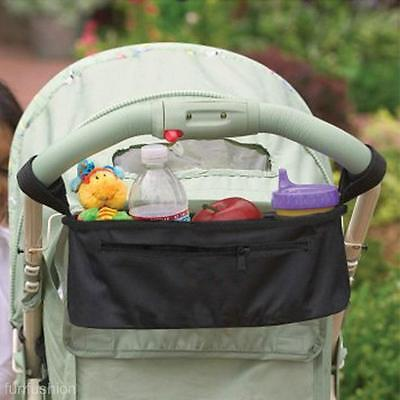 Baby Stroller Parm Trolley Hanging Bag Storage Organizer Pouch f. Diaper Cup Toy