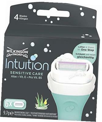 Wilkinson Sword Intuition Sensitive Care 6 Rasierklingen Naturals Damen Blitzver