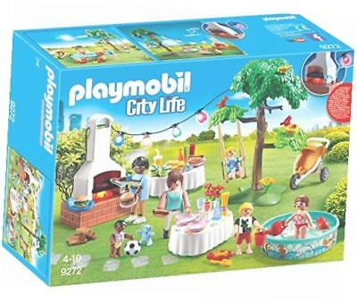 Playmobil Einweihungsparty City Life Puppenmöbel Gartenparty Buffet Kinderschau