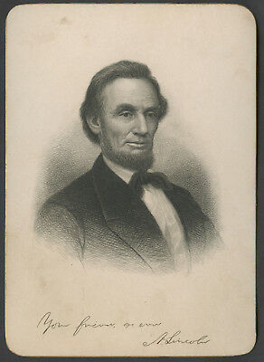 C. 1900 Presidential Cabinet Style Engraving Abraham Lincoln