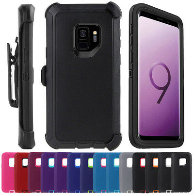 For Samsung Galaxy S9 Plus Hybrid Case Cover, Belt Clip fits Otterbox Defender