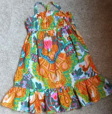 Pre-Owned Genuine Kids Baby Girl Toddler Multi Color Print Dress Size 18 Months