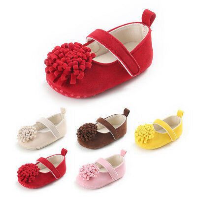 Baby Toddlers Flower Bow Pre Walker Shoes Sandals Infant Trainer Boys Girls Crib