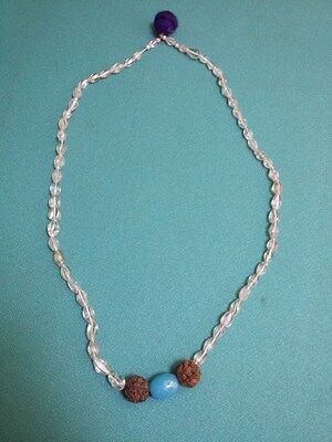 Old Antique Collectible holy beads Ethnic Jewellery Tribal Indian Necklace #80