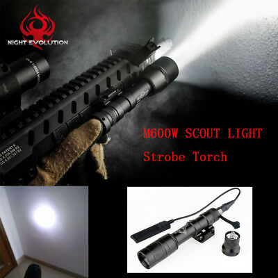 Night-Evolution M600W SCOUT LIGHT LED Strobe Torch Weapon flashlight For Airsoft