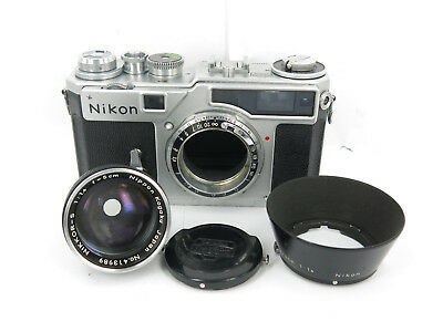 Nikon SP 35mm Rangefinder Camera+Nikkor-S.C 5cm f/1.4 W/HOOD FREE SHIPPING JAPAN