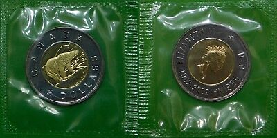 2002 Canada Toonie Sealed in Cellophane