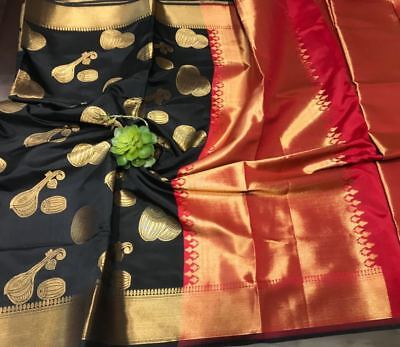 Designer saree music instruments weaving Art Silk Purchase Cheap Banarasi sari