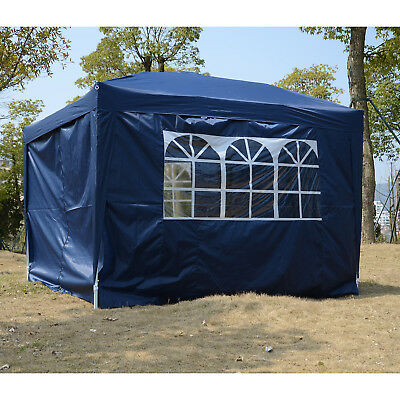 Outsunny 10x10FT Instant Outdoor Canopy Pop Up Party Tent Blue