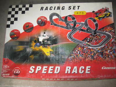 Racing Slot Car Set-Carrera-Scale 1:43 - 7.40 Metre Tracks  Sell Cheap- As-Is
