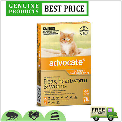 ADVOCATE Cats ORANGE Pack for Cat Up to 4 Kg 6 Doses by Bayer