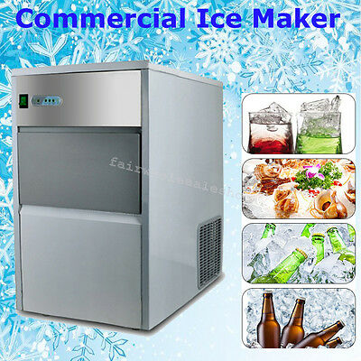 Stainless Steel Commercial Automatic 55lb 25kg/24h Ice Cube Ice Maker Machine CE