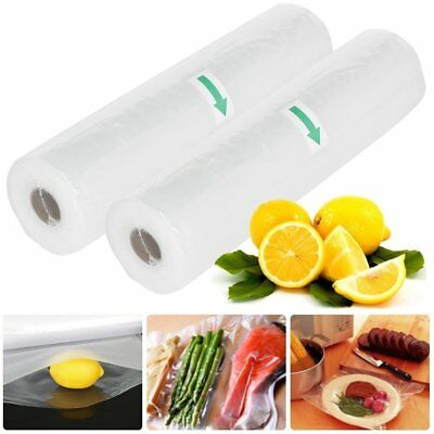 4 X VACCUM FOOD SEALER 5MX28CM ROLL BAGS SAVER SEAL STORAGE COMMERCIAL Safe