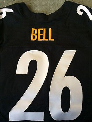 d2dc22976 LEVEON BELL  26 STEELERS AUTHENTIC 3RD NIKE ELITE FOOTBALL JERSEY sz ...