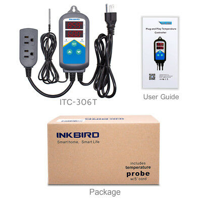 Inkbird Wired Digital Temperature Controller Heat Thermostat Hydroponics ITC306T