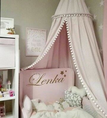 Cotton Room Decoration Balls Mosquito Net Baby Bed Curtain Canopy Round Crib
