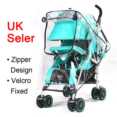 Universal Pushchair Rain Cover Baby Buggy Stroller Pram Wind Shield Raincover SU