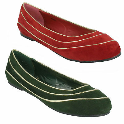 F8R976 LADIES SPOT ON BOW TRIM BALLERINA FLATS CASUAL EVERYDAY DOLLY SHOES