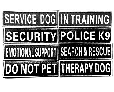 Removable Patches Tags for Dog Harness Vest Service Dog In Training Therapy Dog
