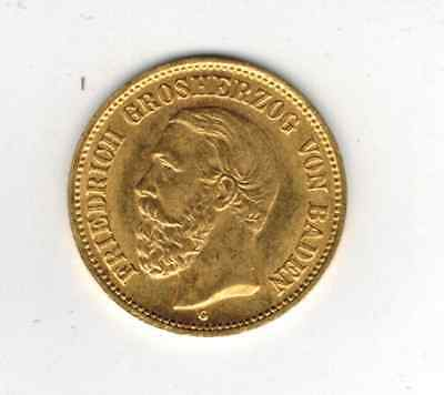 5 Mark Baden Gold 1877 Friedrich top! J. 185