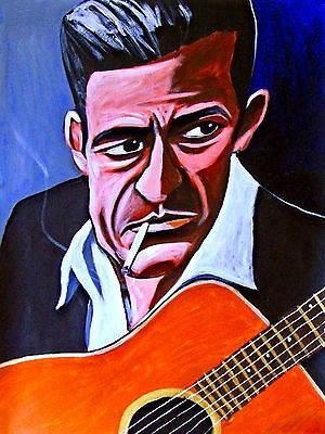 JOHNNY CASH PRINT poster the man in black cd at folsom prison country music art