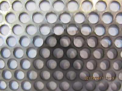 "==3/16"" Holes--18 Gauge-304 Stainless Steel Perforated Sheet  12' X 11""==="