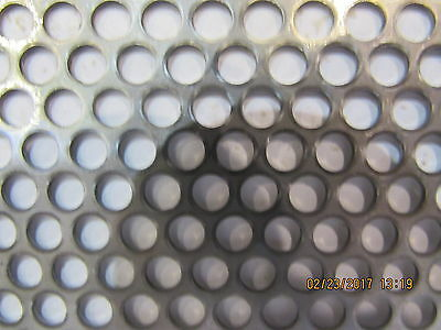 "==3/16"" Holes--18 Gauge-304 Stainless Perforated Sheet  12-"" X 10-1/2""==="