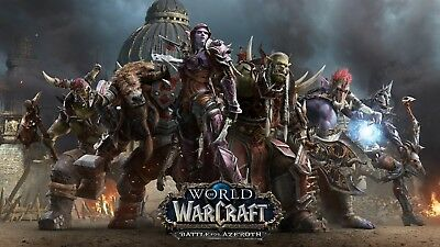 Poster 42x24cm World of Warcraf Battle for Azeroth Blizzard La Horda Sylvanas 01