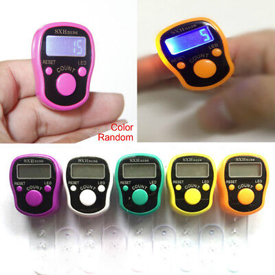 Digital Finger Ring Tally Counter Hand Held Knitting Row Counter Buddha Counter