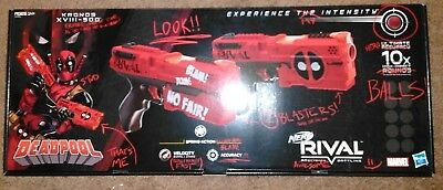 Nerf Rival Deadpool Kronos XVIII-500 Dual Pack LIMITED EDITION Brand New!!!