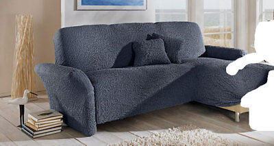 stretch husse f r ein eck sofa mit ottomane rechts in. Black Bedroom Furniture Sets. Home Design Ideas