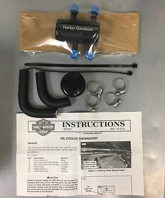HARLEY BLACK OIL COOLER Thermostat Kit Touring 62824-97