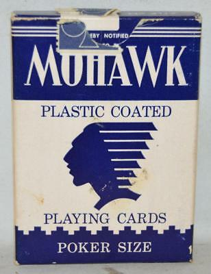 2 DECK Vintage Mohawk Ohio-made Blue playing cards Standard size Cards ~129~
