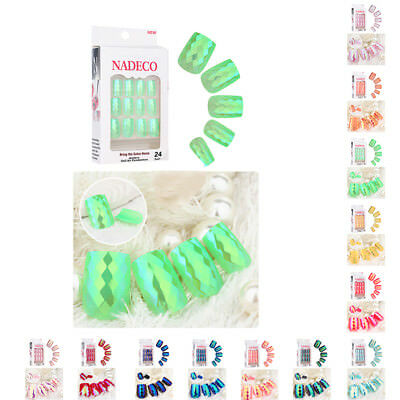Art Salon Finger 24pcs False Toe Natural Full Design Nail Manicure Mermaid Tips