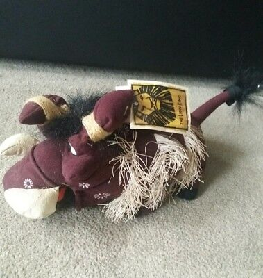 Disney The Lion King Pumbaa Plush in Native Costume The Broadway Musical New