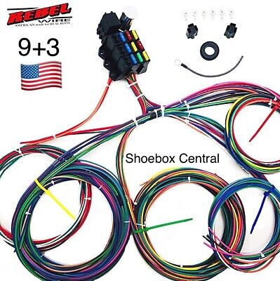 REBEL WIRE 12 Volt Wiring Harness, 9+3 Circuit Universal Kit ... on 9 volt battery terminal, 9 volt power supply, 9 volt battery cover, 9 volt switch, 9 volt speaker,