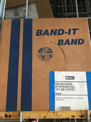 """ISO Band It Straps On, 201 Stainless Steel Band 1/4″ x .020"""" x 100′ – #C20299"""