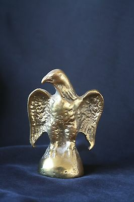 Old Cast Iron /' Brass Eagle Paperweight  ~ Figural Bird