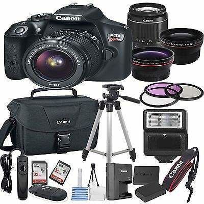 Canon T6 Digital SLR Camera with EF-S 18-55mm IS II DSLR Bundle
