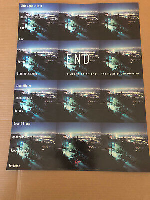"""MEANS TO AN END-MUSIC OF JOY DIVISION LTD.ED. PROMO DISPLAY POSTER 18"""" x 24"""" NM"""