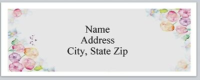 Personalized Address Labels Watercolor Flowers Buy 3 get 1 free (P 368)