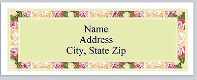 bo 120 Personalized Address labels Hearts Pink Border Buy 3 get 1 free