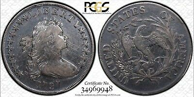 Super Rare 1797 Draped  Bust Silver Dollar PCGS Secure VF Details