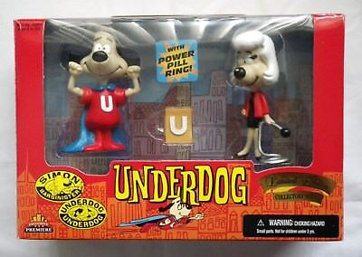 NEW Vintage 1998 UNDERDOG & SWEET POLLY Exclusive Limited Edition PVC FIGURE SET