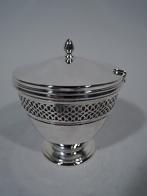 Tiffany Jam Pot - 18423 - Antique Edwardian - American Sterling Silver - C 1913