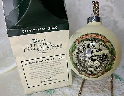 Walt Disney's Christmas Through the Years Ornament 2000 Steamboat Willie World