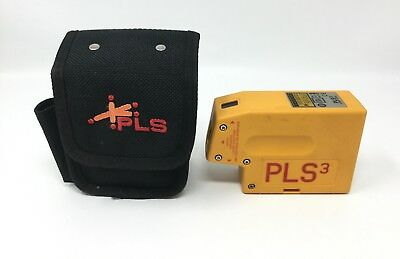 PLS3 Pacific Laser Systems 3-Point Red Beam Laser Level with Case