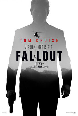 MISSION IMPOSSIBLE FALLOUT MOVIE POSTER DS ORIGINAL Advance 27x40 TOM CRUISE